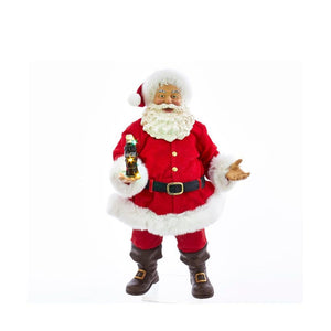 Kurt Adler 10.5-Inch Coca-Cola® Santa with LED Bottle Table Piece