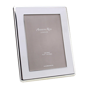 Addison Ross 5x7 The Curve Silver & White Frame