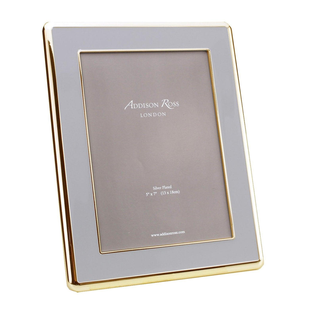 Addison Ross 5x7 The Curve Gold & Chiffon Grey Frame
