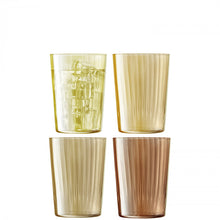 Load image into Gallery viewer, LSA International Set of 4 Gems Tumbler 560ml Assorted