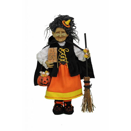 Karen Didion Originals Candy Corn Witch Figurine, 19 Inches