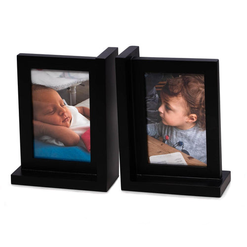 Bey Berk Picture Frame Bookend In Solid Wood