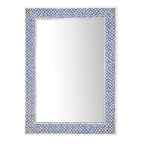 Two's Company Tozai Rajasthan Navy Bone Inlay Wall Mirror