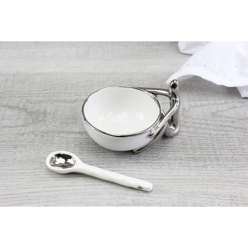 Pampa Bay Get Gifty - The Condiment Procelain Set - Condiment Bowl and Spoon
