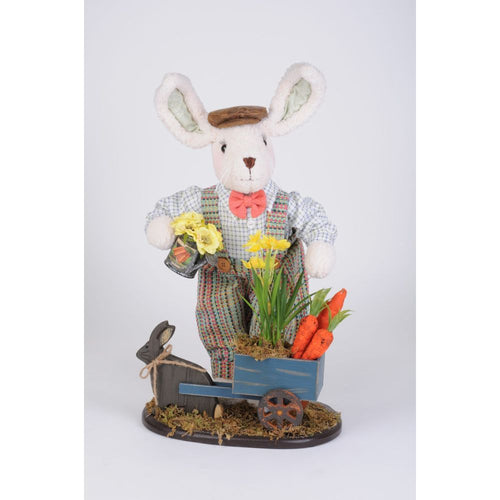 Karen Didion Originals Bunny Cart Figurine, 22 Inches