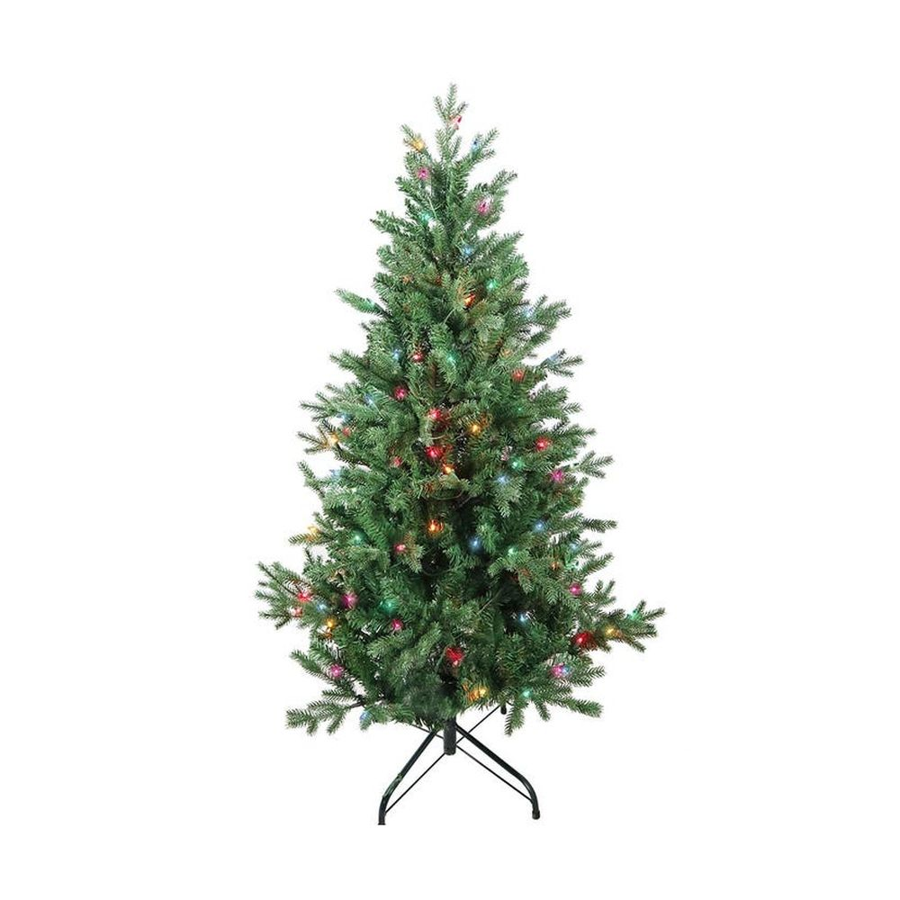 Kurt Adler 4.5' Pre-lit Multi-Color Incandescent Jackson Pine Tree