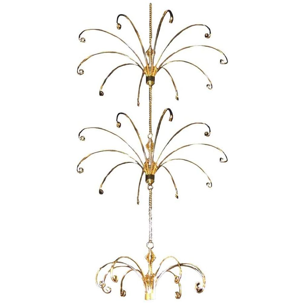 Kurt Adler Gold Ceiling Suspended Display Tree