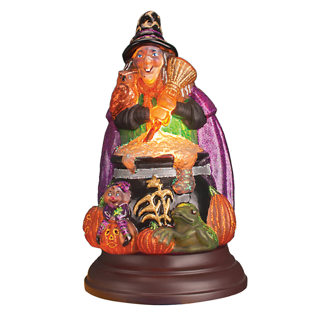 Old World Christmas Witch With Cauldron Night Light Figurine