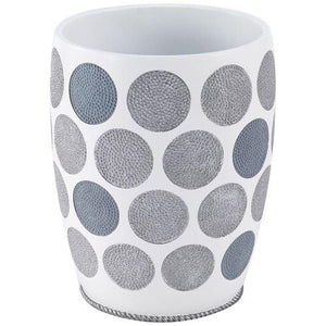 Avanti Linens Dotted Circles Wastebasket