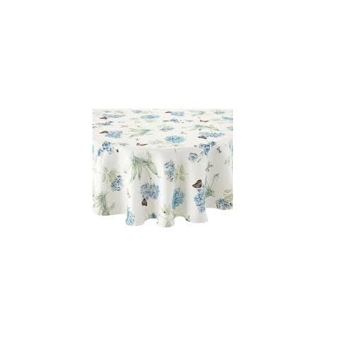 Lenox Butterfly Meadow Blue Round Tablecloth