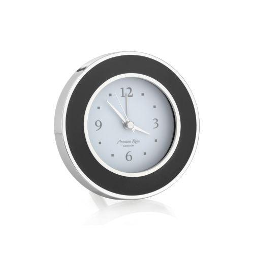 Addison Ross Black & Silver Alarm Clock