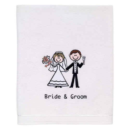 Avanti Linens Bride & Groom Bath Towel - White