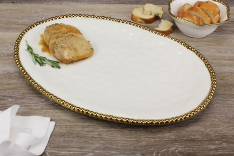 Pampa Bay Golden Salerno Large Oval Platter
