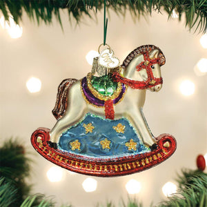 Old World Christmas Hanging Tree Ornament - Rocking Horse