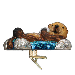 Old World Christmas Floating Sea Otter Ornament