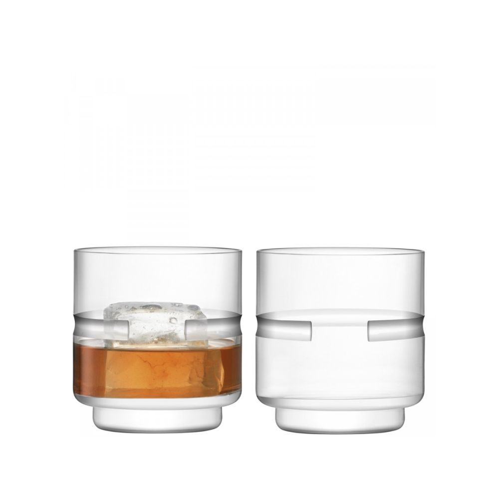 LSA International Horizon Set of 2 DOF Tumbler 11.8 fl oz Clear/Cut
