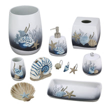 Load image into Gallery viewer, Avanti Linens Blue Lagoon Wastebasket