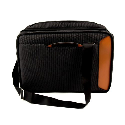 Saddle Leather & Ballistic Nylon Convertable Briefcase