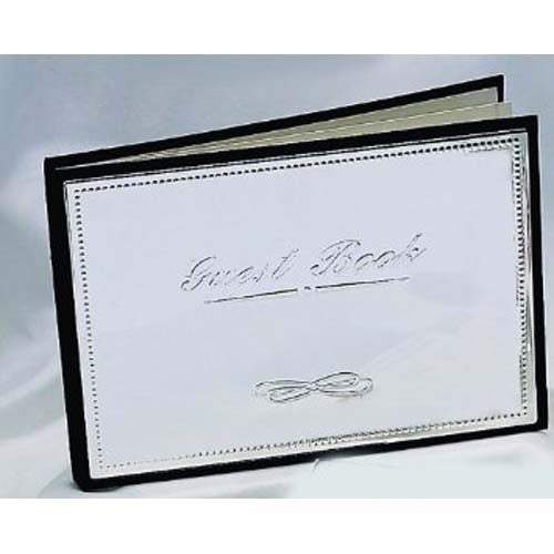 Leeber Silver Plated Guest Book