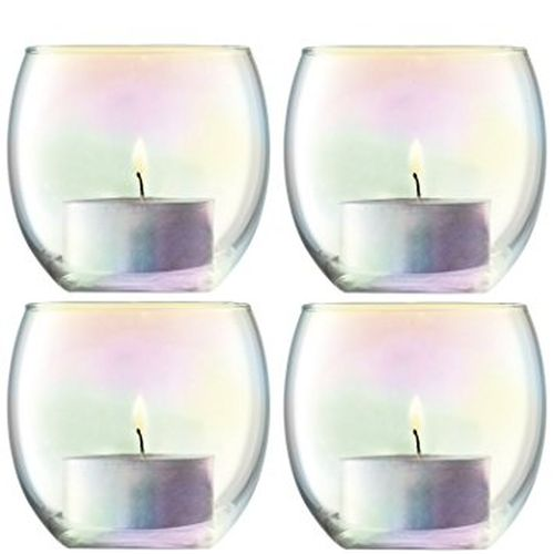 LSA International Pearl Votive Holder H2.5In/2.75In Set Of 4