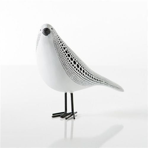 Torre & Tagus Debossed Dotted Standing Bird - White