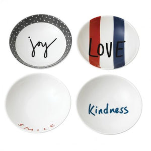 "Ellen DeGeneres ED Joy Accents Bowl 5.5"" Set/4 Mixed"