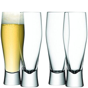 LSA International Bar Beer Glass Clear Set Of 4