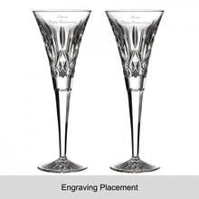 Load image into Gallery viewer, Waterford Crystal Lismore Toasting Flute Pair