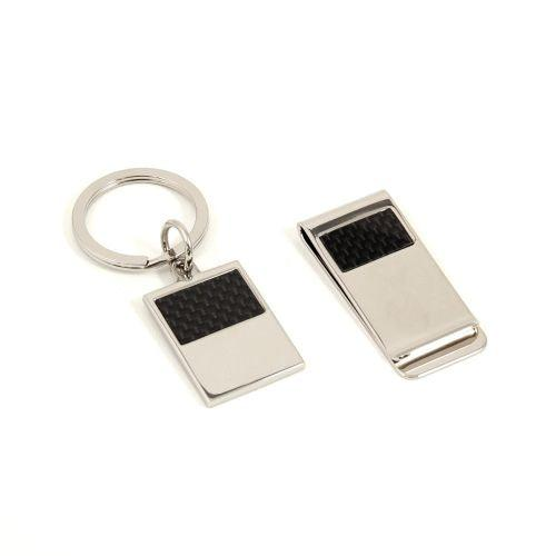 Bey Berk Silver Plated Money Clip & Key Ring Gift Set