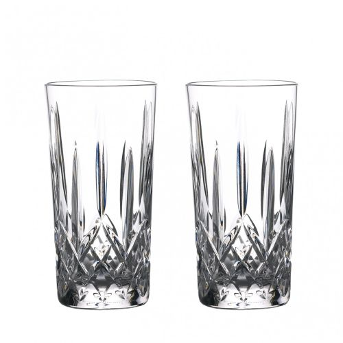 Waterford Crystal Gin Journeys Lismore Hiball 16 Oz Set of 2