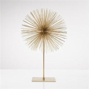 Torre & Tagus Spike Sphere Sculpture Tall - Gold