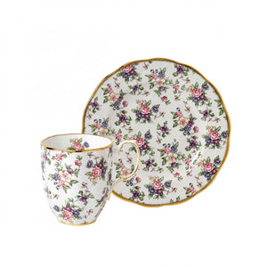 Royal Albert 100 Years 1940 2-Piece Set, English Chintz