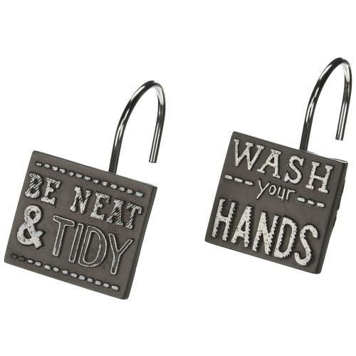 Avanti Linens Chalk It Up Shower Hooks