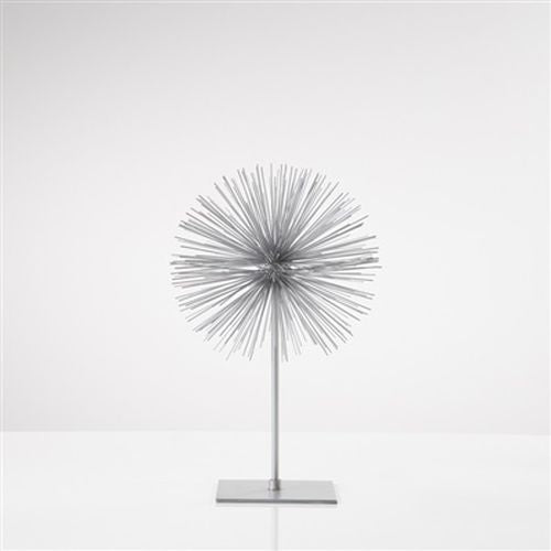 Torre & Tagus Spike Sphere Sculpture Short - Silver