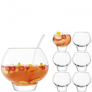 LSA International Rum Punchbowl Set - Clear