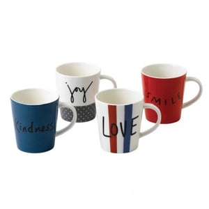 Ellen DeGeneres ED Joy Accents Mug Set/4 Mixed