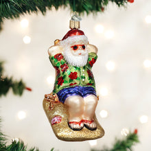 Load image into Gallery viewer, Old World Christmas Ornament - Sunning Santa