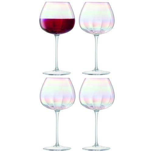 LSA International Pearl Red Wine Glass Set Of 4