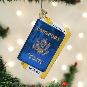 Old World Christmas Passport Glass Blown Ornament Ornament