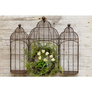 Your Hearts Delight Bird Cages - Flat Back For Hanging
