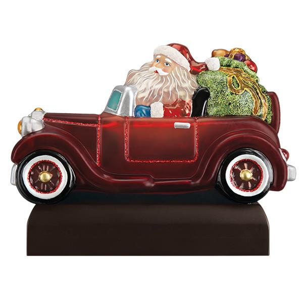 Old World Christmas Santa In Antique Car Light Figurine