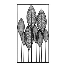 "Load image into Gallery viewer, Framed Leaf Cutout 20X37""H Vert Metal Wall Decor"