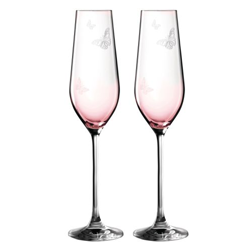 Royal Albert Miranda Kerr Pink Flute -  Set/2