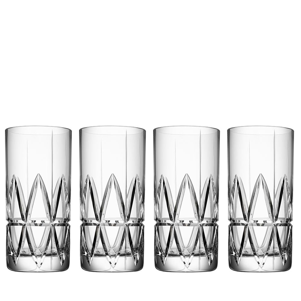 Orrefors Peak Highball Set of 4