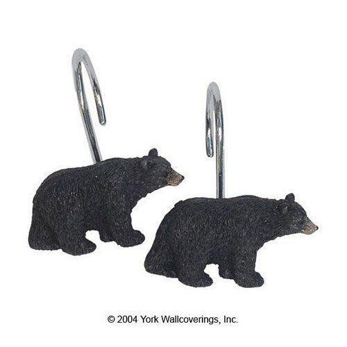 Avanti Linens Black Bear Lodge Shower Hooks