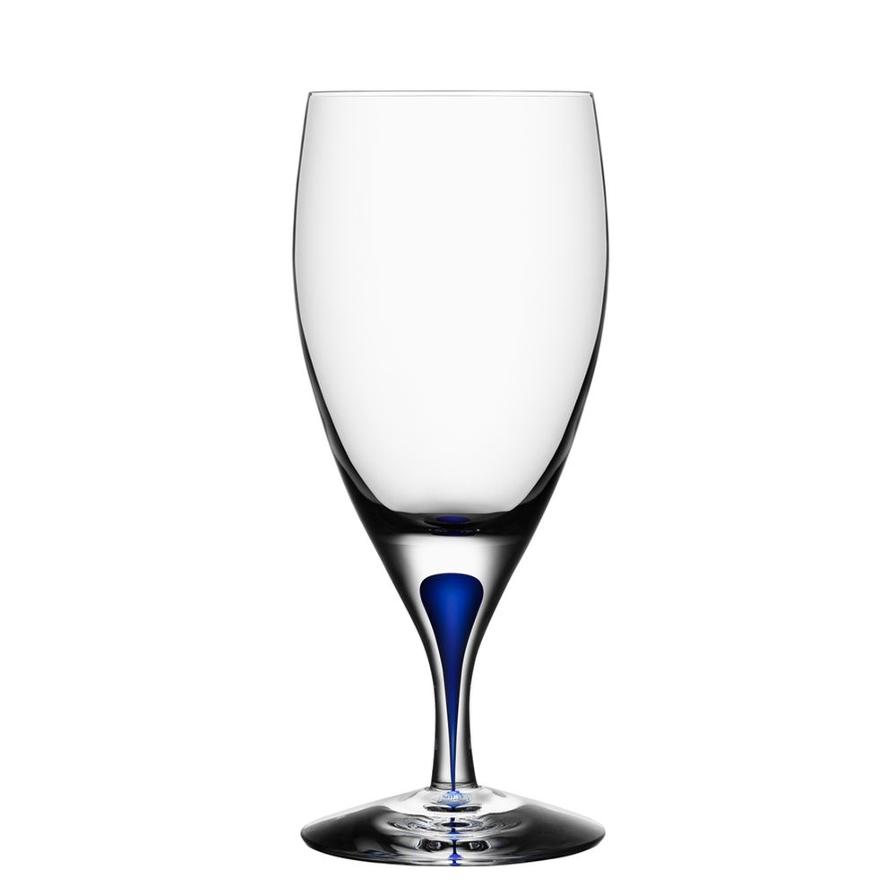 Orrefors Intermezzo Blue Iced Beverage Glass