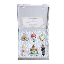 Load image into Gallery viewer, Old World Christmas Set of 6 Wedding Collection Ornament