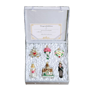 Old World Christmas Set of 6 Wedding Collection Ornament