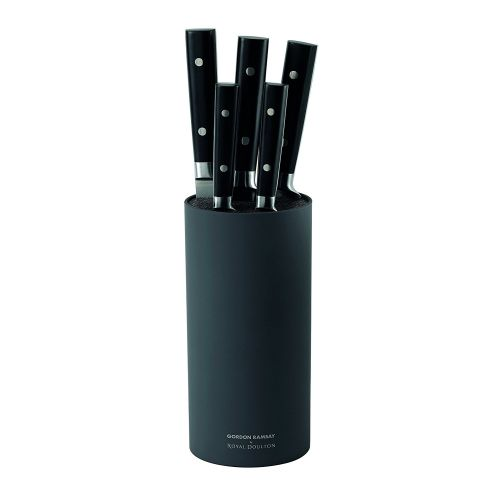Gordon Ramsay 6-Piece Knife Block Set, Black