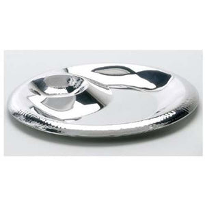 "Leeber Stainless Steel 13"" Round Chip And Dip"